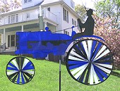 Blue Tractor Wind Spinner